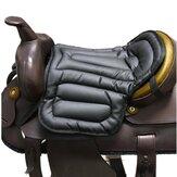 Almofadas de sela de cavalo de couro PU antiderrapante Compreensivo Almofada de assento Pad Equipamento de equitação a cavalo