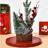 Mini Wooden Led Christmas Tree Desk Table Decoration Gift Cute Xmas Home Decoration