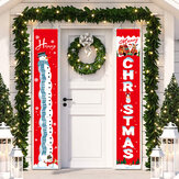 Merry Christmas Hanging Door Banners 7 Styles Welcome Christmas Porch Sign