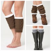 O inverno unisex Plus veludo Knee Ankle Calf Warmer Pads Socks
