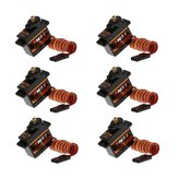 6 PCS Emax ES08MDII Metal Digital Micro Servo Untuk RC Airplane