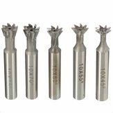 10mm HSS Straight Shank Dovetail Groove Slot Cutter End Mill CNC Bit 45 55  60 70 75 Degree