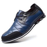 Hombres Piel Genuina Spicing Business Casual Soft Oxfords