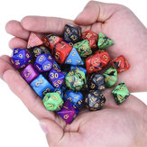 35Pcs Polyhedral Dice Set Multisided Dices Swirl RPG Role Playing Games Gadget W/ bag