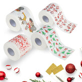 Bath Paper Christmas Printed Home Santa Claus Bath Toilet Roll Paper Christma Xmas Decor Tissue 170 Leaves Toilet Paper