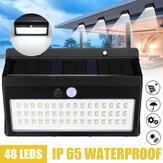 Наружный LED Солнечная Питание от 3-х режимов PIR Датчик Безопасность Водонепроницаемы Стена Лампа для улицы Сад