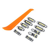 10Pcs Car LED Interior Light Bulb Kits for VW MK4 Golf GTI Jetta 1999-2005