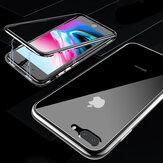BakeeyCajadevidriotempladotransparente de adsorción magnética + película de vidrio templado para iPhone X/8/8 Plus/7/7 Plus