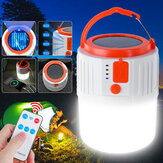 100W Solar Lanterns Light Bulb LED Hanging Camping Tent Lamp Remote/USB Charger