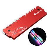 Jonsbo NC-3 RGB Colorful Speicherbeleuchtete Aluminium-Mg-Legierungs-Speicherkühlungsklemme Kühlkörper-Computerspeicherkühler