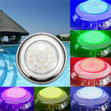 18W رغب IP68 ماء راتينج سباحة ضوء متعدد الألوان تحت الماء ليد ليلة مصباح 12V