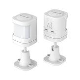 BlitzWolf®BW-IS6 433MHz Armafvæbning Alarm i realtid Push APP Control PIR Bevægelsessensor til Smart Home Alarm System