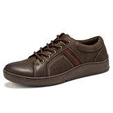 Menico Men Microfiber Leather Comfy Non Slip Casual Shoes