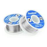 Toolour 2Pcs senza piombo Saldare Filo da 1 mm Bobina di filo di ferro per saldatura FLUX 2.0% Filo di colofonia Filo Saldare