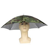 Sun Umbrella Fishing Umbrella Headband 30CM Plastic Hat Umbrella
