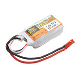 ZOP Power 7.4V 750mAh 2S 70C LipoバッテリーJSTプラグ