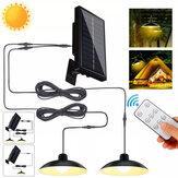 Солнечный свет Кулон с Дистанционное Управление IP65 Водонепроницаемы Три яркости Супер яркий LED Освещение На открытом воздухе Кемпинг Охот