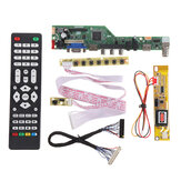 T.SK106A.03 T.SK105A.03 Universal LCD LED TV Controller Driver Board TV/PC/VGA/HDMI/USB+7 Key Button+2ch 6bit 30pins LVDS Cable+1 Lamp Inverter