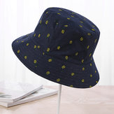Ladies Cotton Dot Bucket Chapéu Wide Brimmed Chapéu