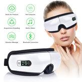 Masseur oculaire Pressions d'air Rides Fatigue soulager les Vibrations des yeux Massage Compresse chaude Thérapie Lunettes Bluetooth Musique Eye Relax