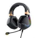 BlitzWolf® BW-GH2 Gaming Headphone 7.1 Channel 53mm Driver USB Wired RGB Gamer Headset dengan Mic untuk Komputer PC PS3/4