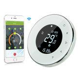 MoesHouse BHT-6000-GBLW LCD Tela de toque Termostato elétrico de aquecimento de piso Backlight WIFI 16A Funciona com Alexa Google Home