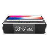 Беспроводная Bluetooth-сигнализация Часы Зарядное устройство для телефона FM Радио Настольный цифровой Термометр с сигнализацией Часы Дисплей