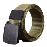 140cm KALOAD R01 Män Women Canvas Canvas Justerbar Quick Release Tactical Belt PE Buckle 3.8cm Bredband