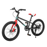 Montasen M204 18/20inch Kid Mountain Bike Double Disc Brakes Bicycle Max Load 80kg Outdoor Cycling for 5-15 Year Old