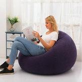 Silla inflable grande de 110x85cm Bean Bolsa PVC Interior / al aire libre Muebles de jardín Lounge Sofá perezoso para adultos Sin relleno Cama plegable