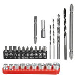 3 In 1 Electric Drill Kit 26Pcs For Hammer Drill Screwdriver Bits With Adapters Hole Drill