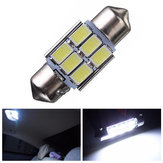 31mm 5630 6-SMD Festoon LED Interior Map Dome Lights Bulb DE3175 3022 3021 2W White 1PCS