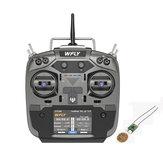 WFLY ET16S 2.4GHz 16CH FHSS Hall Sensor Gimbals Mode2 adó kompatibilis 4IN1 R9M TBS Crossfire modul RF201S vevővel PPM W.BUS SBUS kimenet RC drónhoz