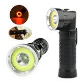 XANES 1305 T6 + COB 1500 Lumens Cauda Magnética Dobrável LED Inspeção Lanterna