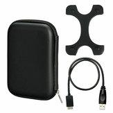 Чехол Сумка + Micro USB 3.0 Кабель + Силиконовая крышка для 2,5-дюймового жесткого диска HDD