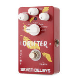 Caline CP-37 SEVEN DELAYS Multi Delay Guitar Effects Pedal with Digital Circuit True Bypass Pedal