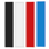 Universal 33x130cm Car Auto Vinyl Racing Stripe Sticker Hood Decal Body