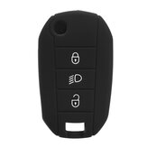 Silicone Car Key Case Protector Cover Remote Control Fob for Peugeot 3008 208 308
