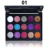 CmmaDu 15 Colours С блестками Палитра теней для век