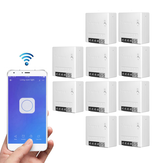 10pcs SONOFF MiniR2 Smart Switch bidirezionale 10A AC100-240V Funziona con Amazon Alexa Google Home Assistant Nest Supporta la modalità fai-da-te Consente di Flash il firmware