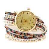 Bracelet de mode cercle diamant montre femme montre à quartz