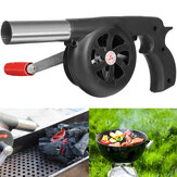 BBQ Charcoal Grill Beads Fire Starter Powerful Fan Blower Large Hand Crank