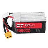 BT BEAT 22.2V 1500mAh 45C 6S Lipo Battery XT60 Plug for RC Racing Drone