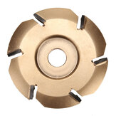 90mm 6 Tooth Wood Carving Disc Milling Cutter Woodworking For 16mm Aperture Angle Grinder