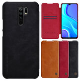Nillkin for Xiaomi Redmi 9 Case Bumper Flip Shockproof with Card Slot Full Cover PU Leather Protective Case