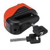 100dB Zabezpieczenie przed kradzieżą motocykla Hamulec tarczowy Metalowy skuter Rower Alarm koła 2 Kluczyk
