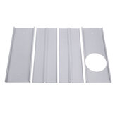 160cm 4pcs Window Slide Kit Adjustable Plate Air Conditioner Wind Shield For Portable Air Conditioner