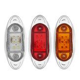 LEDAutoSeitenmarkierungsKontrollleuchtenChromBasis Lampe 12 V 1 STÜCKE für Lkw Anhänger Lkw Van Bus