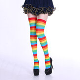 Stripe Tube Dresses Over the Knee Calze