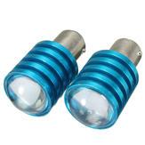 Par carro 1157 BAY15d Q5 7W branco LED sinal da volta de freio reverter lâmpadas p21 / 5W